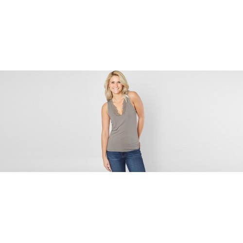 BUCKLE EXCLUSIVE Women red by BKE V-Neck Tank Top Comfortable and elegant 79485BRDR18310 PNLWASR