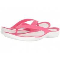 Women Crocs Swiftwater Flip Sandals Soft synthetic lining for added comfort Paradise Pink/White 8990694 PTTFZVP