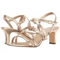 Women Nina Genaya Sandals Soft synthetic lining for added comfort Taupe/Fairy Dust Reflective Suedette 8860413 CDORJAM