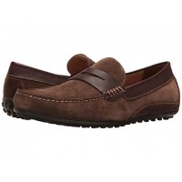 Men Florsheim Oval Penny Driver Sandals Soft synthetic lining for added comfort Mushroom Suede/Brown Suede 8827397 MWPPYHY