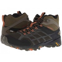 Men Merrell Moab FST 2 Mid Waterproof Sandals Soft synthetic lining for added comfort Olive/Adobe 9065565 LWAMAKO