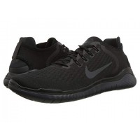 Men Nike Free RN 2018 Sandals Soft synthetic lining for added comfort Black/Anthracite 8982513 OMNMHWE