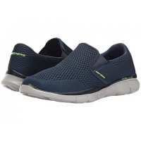 Men SKECHERS Equalizer Double Play Sandals Soft synthetic lining for added comfort Navy 8815563 YLYCLQL