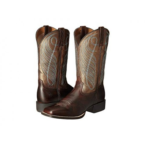 Women Ariat Round Up Square Toe Soft synthetic lining for added comfort Yukon Brown/Bronze 8184367 JOCTTRL