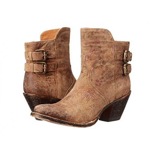 Women Lucchese Catalina Soft synthetic lining for added comfort Brown Floral Print 8563446 RQVRBAY