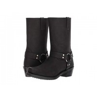 Women Old West Boots Harness Boot Soft synthetic lining for added comfort Black Distressed 8949535 RVWNNPW
