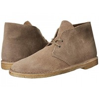 Men Clarks Desert Boot Sandals Soft synthetic lining for added comfort Taupe Distressed Suede 105990 AITUORX