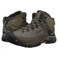 Men Keen Targhee Exp Mid WP Sandals Soft synthetic lining for added comfort Bungee Cord/Brindle 8912784 WAGZPJI