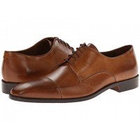 Men Massimo Matteo 5-Eye Cap Toe Sandals Soft synthetic lining for added comfort Brandy/Burnish Toe 8430981 NDMXCWO