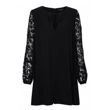 French Connection Malaita Lace Tie Neck Playsuit 100% viscose Dry clean only D871866 YQDHYBQ