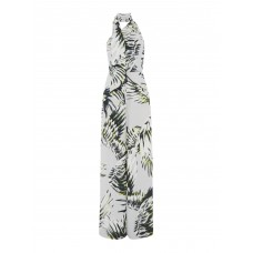 Outline Printed High Neck Jumpsuit Round Neck 100% Polyester D874155 RWGBYNV