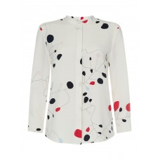 GANT Women Long Sleeve Button Up Printed Blouse Create your fashion taste V Neck D909367 NMIAMYN