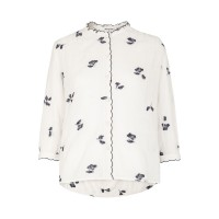 Whistles Women Embroidered Floral Shirt Create your fashion taste Cotton100% D899749 ZKDQFYV